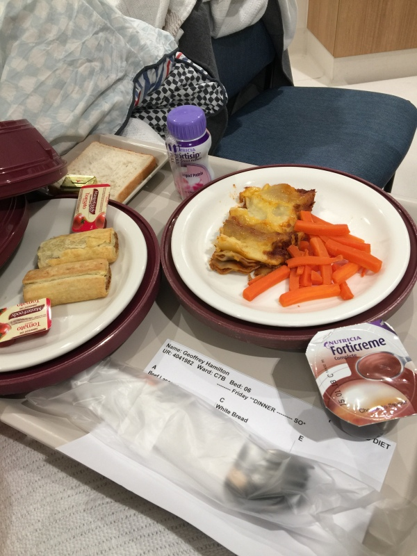 Day 18 Hospital food