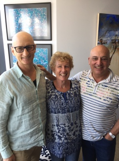 Sian and Nick Leywood from Wagga dropped in for lunch on Monday