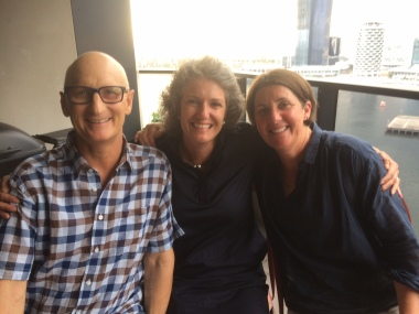 Michelle Loane and Alison Napier dropped in for dinner on Friday.