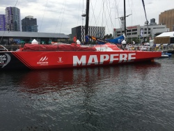 The Volvo around the world race was in Docklands for a week's layover